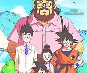 goku, gohan, and chichi image
