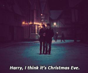 harry potter, christmas, and christmas eve image