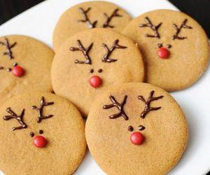 christmas, Cookies, and deer image