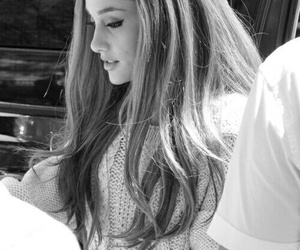 black and white, ariana grande, and cute image