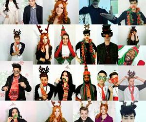 christmas, katherine mcnamara, and shadowhunters cast image