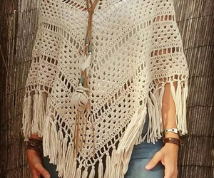 crochet, fashion, and poncho image