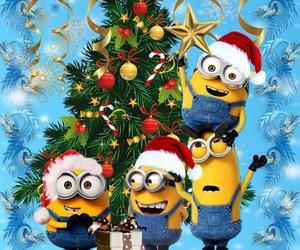 minions, christmas, and holiday image