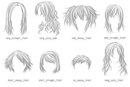 hairstyles drawing templates www