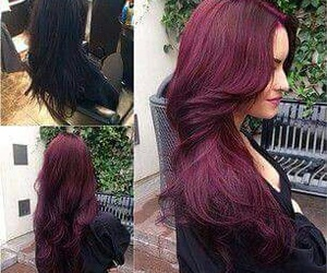 burgundy, color, and hair image