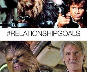 Relationship, star wars, and han solo image