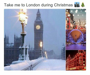 christmas, london, and snow image