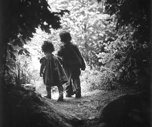 child, black and white, and photography image
