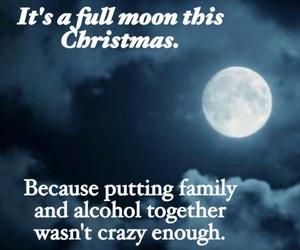 christmas, celebrating, and full moon image