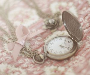 antique, pink, and watch image
