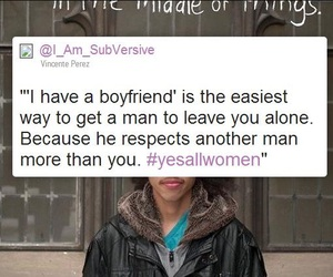 boyfriend, feminism, and rights image