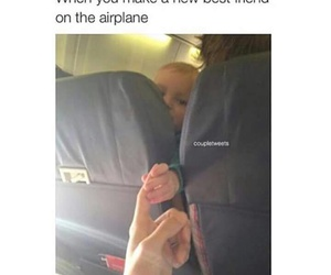 airplane, child, and bestie image