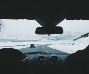 car, snow, and travel image