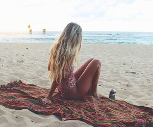 girl and beach image
