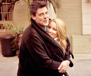 glee, cory monteith, and dianna agron image