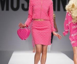fashion, Moschino, and pink image