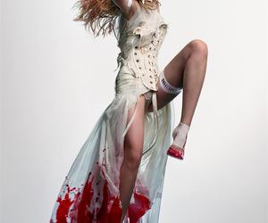 blood, fashion, and model image