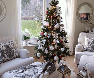 christmas tree, decoration, and holiday image