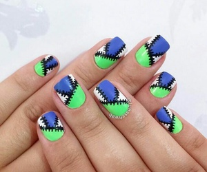 colorful, lacquer, and nail image