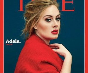 Adele, red, and music image