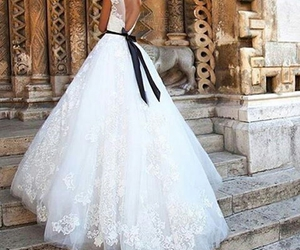 beautiful, wedding dresses, and white image
