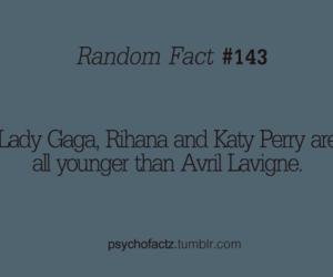 fact, katy perry, and Lady gaga image