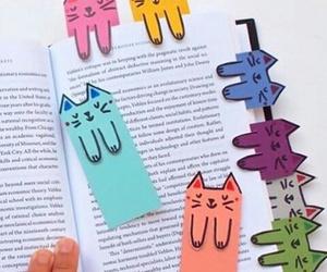 book, cat, and diy image