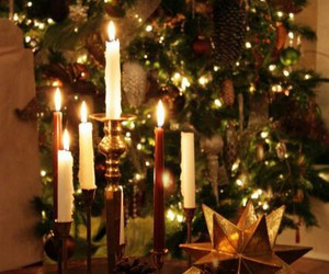 christmas, lights, and candles image