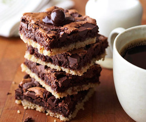 brownies, sweet, and chocolate image