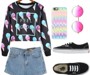 blue, pink, and ootd image