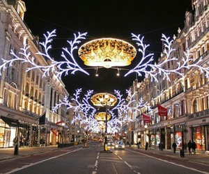 christmas, christmas lights, and london image
