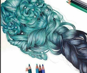 amazing, hair, and art image