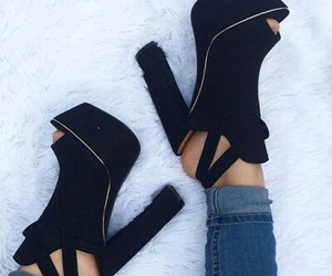 beatiful, black, and shoes image