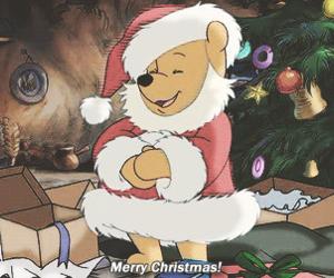 christmas, merry christmas, and winnie the pooh image