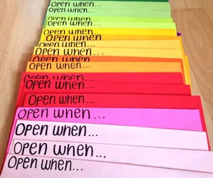 love, open when, and letters image