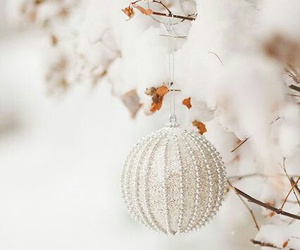 merry christmas, ornament, and white image