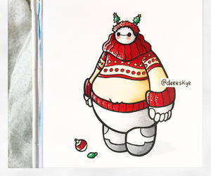 christmas and baymax image