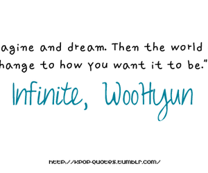 quote, infinite, and woohyun image