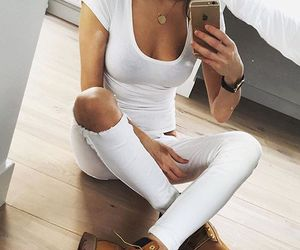 dressy, fashion, and white image