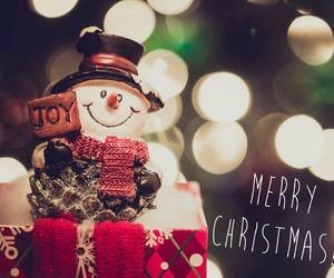 christmas, joy, and snowman image