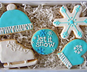 blue, let it snow, and christmas image