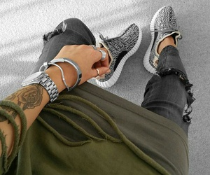 fashion, silber, and jeans image