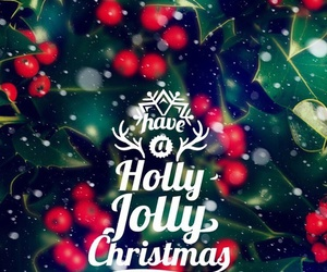 christmas, holly, and jolly image