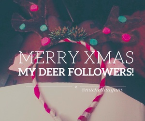 antlers, christmas, and followers image