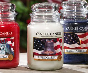 america, candle, and yankee image