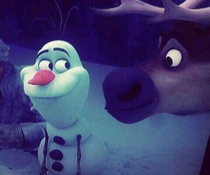 olaf, frozen, and sven image