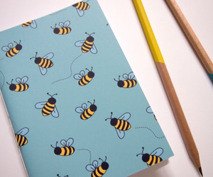 bee, book, and child image