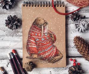winter, art, and drawing image