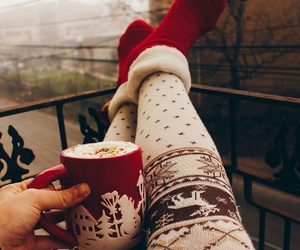 christmas, hot ​chocolate, and december image