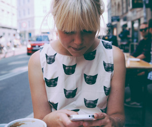 blonde, coffee, and girl image